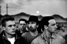 U2 by Anton Corbijn at Joshua Tree. U2 playing Berlin Subway