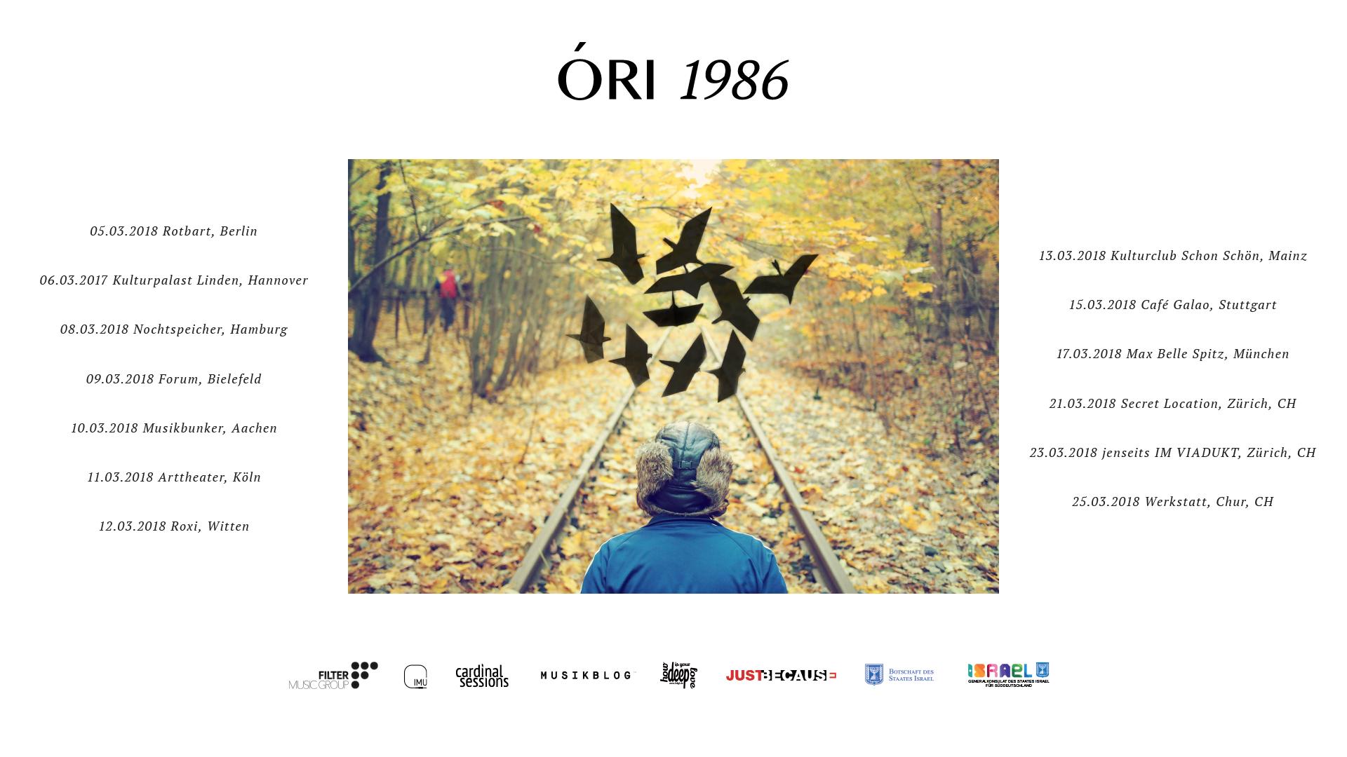 ORI Tour Dates 2018